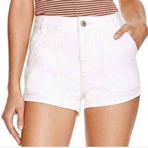 NWT! Free People Optic White Sweet Surender Shorts